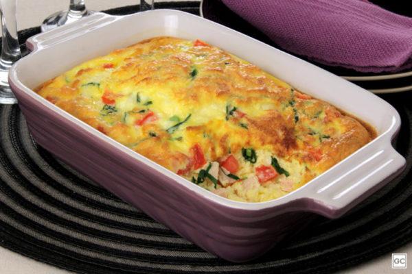 Omelete de forno com couve