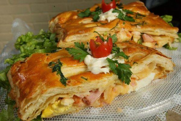 Torta de palmito com queijo